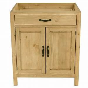 Meuble Bas A Tiroir : meuble bas de cuisine en pin massif 2 portes 1 tiroir ~ Dailycaller-alerts.com Idées de Décoration