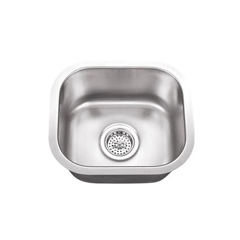 Small Bowl Stainless Steel Sinks by Cahaba Undermount Stainless Steel 14 5 In X 13 In Single