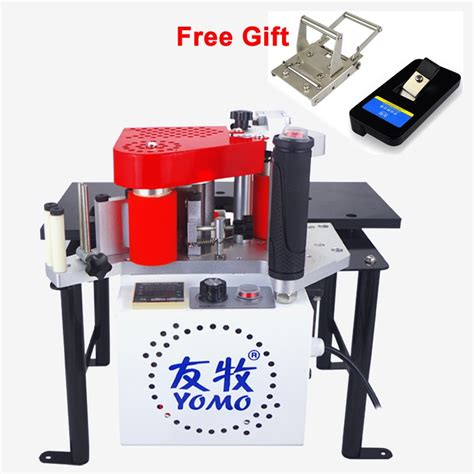 portable edge banding machine double side glue woodworking edge bander  wood based panels
