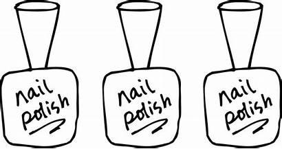 Nail Clipart Polish Coloring Nails Bottle Fingernail