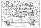 Colouring Trip Coloring Pages Road Cars Going Trips Disney Summer Worksheets Campervan Transport Travel Printable Esl Holidays Remembrance Activity Template sketch template