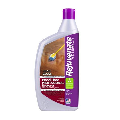 wood floors cleaning products rejuvenate 32 oz professional high gloss wood floor restorer rj32profg the home depot