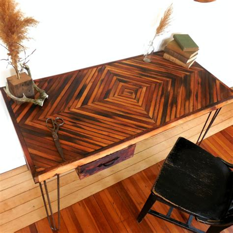 office  eco friendly   reclaimed wood desk