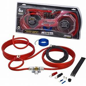 Stinger 4 Gauge 1400 Watt Amp Kit Red Black Power Ground