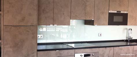 cuisine en verre blanc verre laqué sur mesure couleurs au choix professionnel