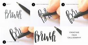 brush lettering message tutorials With hand lettering pens for beginners