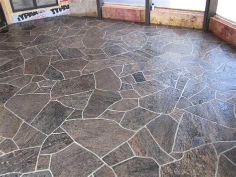 flagstone kitchen floor flagstone floor mla barber shop floors and 3766