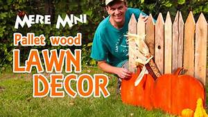 MERE MINI Pallet wood autumn yard decoration - YouTube