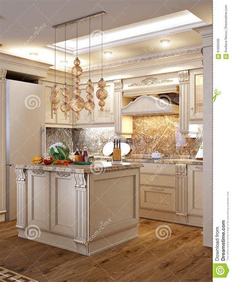 cuisine baroque cuisine baroque classique luxueuse et salle à manger