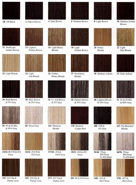 Different Hair Colour Names by For Writing Hair Color Name Chart Hair Colors