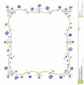 Frühlings oder Sommer Rahmen Von Blumen Stock Abbildung