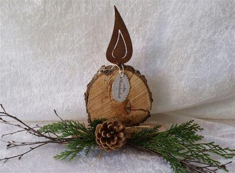 kerze aus holz mit rostflamme von geschenke und mehr auf dawandacom decoration deko