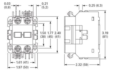 Ge 4 Pole Contactor Diagram by C25bnb230t Eaton Definite Purpose 2 Pole Contactor