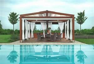 Idee De Pergola En Bois : d co piscine ext rieure 50 id es en photos ~ Melissatoandfro.com Idées de Décoration