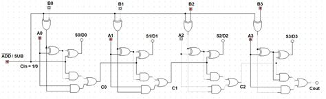 Logic Diagram 4 Bit Adder by Let S Learn Computing 4 Bit Adder Subtractor Circuit