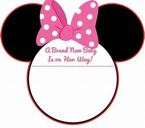 Minnie mouse free printable toppers or labels in pink is it for minnie mouse head template just b cause maxwellsz