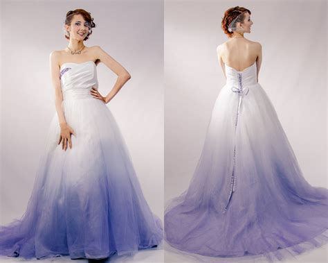 Purple Ombre Tulle Wedding Dress Couture By