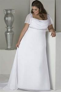 simple plus size wedding dress with short sleeves With plus size short wedding dresses with sleeves