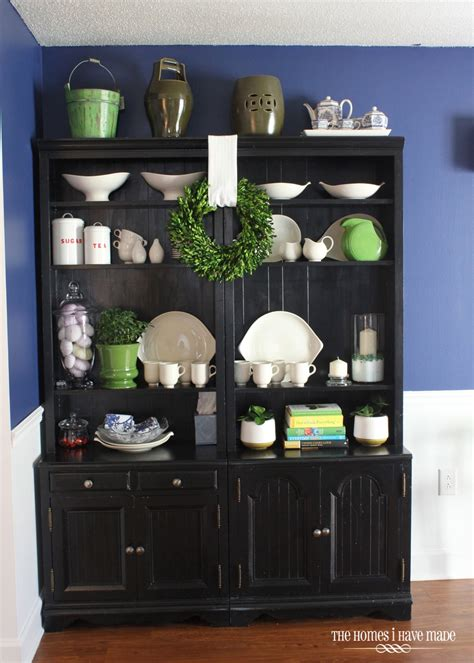 Bookcase In Dining Room by Styling Bookcases As A Dining Hutch The Homes I Made