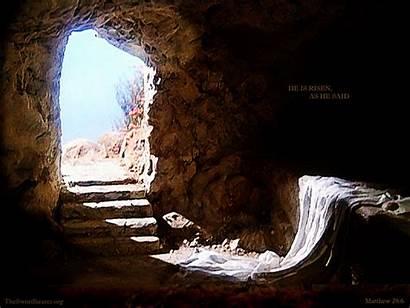 Tomb Wallpapers Bible God Jesus Empty Risen