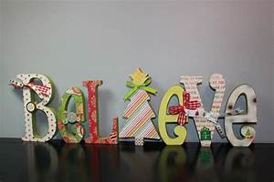 17 best images about letter ideas on pinterest glue dots With believe wooden letters
