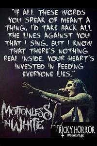 56 best Motionless In White Lyrics images on Pinterest ...