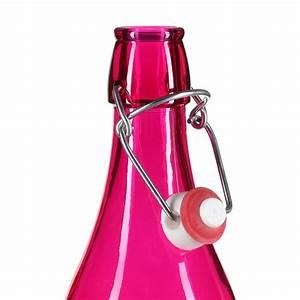 Bouteille Verre 1l : bouteille limonade en verre 1l fuchsia ~ Teatrodelosmanantiales.com Idées de Décoration
