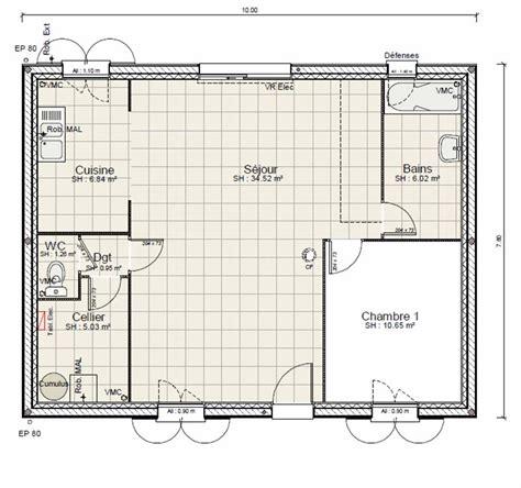 salle de bain 5m2 plan