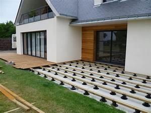 nivremcom tuto terrasse bois sur plot diverses idees With comment poser une terrasse en composite sur plots