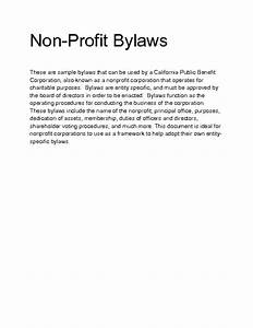 Welcome to docs 4 sale for Non profit bylaws template free