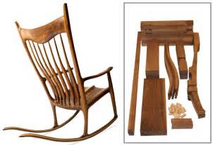 charles brock maloof inspired rocker walnut parts kit with