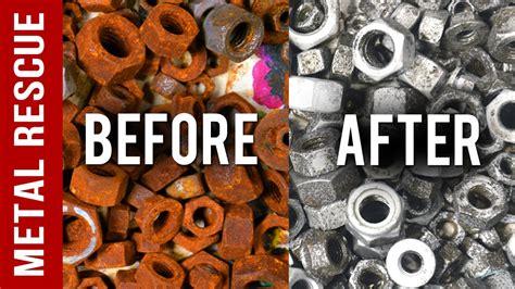 remove rust  nuts bolts  drill bits