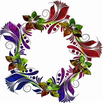 Floral Clipart Wreath Flower Colorful Wreaths Birthday