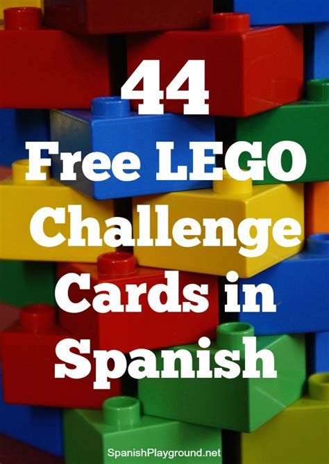 LEGO Challenge Cards in Spanish   Spanish Playground