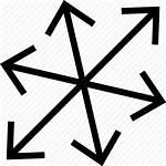 Icon Random Arrow Erratic Directions Irregular Odd