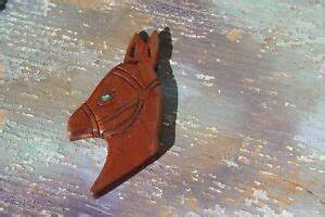 Hand Carved Wood Horse Mule Head Profile FREE SHIPPING! | eBay