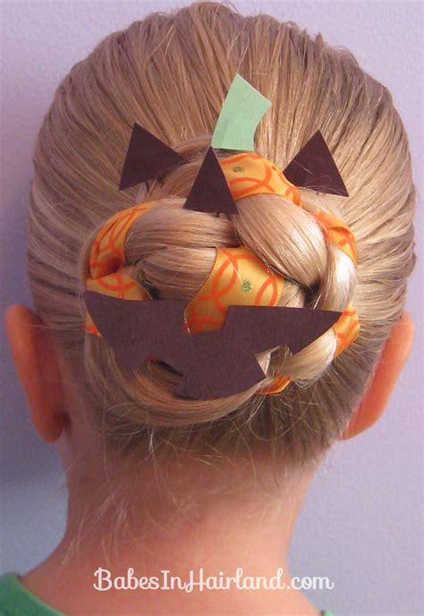 Halloween Hair  Jack O' Lantern Bun  Babes In Hairland