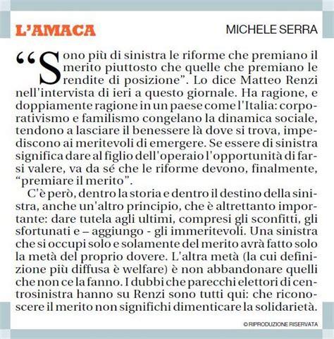 Amaca Di Serra by L Amaca Di Michele Serra Matteo Renzi