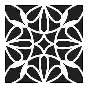 pochoir decoratif home deco 15x15 cm motif carreaux de With carreaux de ciment 10x10