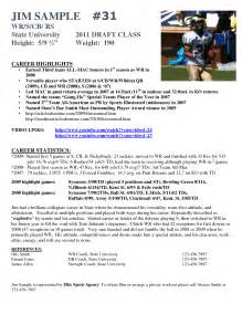 soccer resume for college best photos of athlete bio template football player resume exles athlete profile template