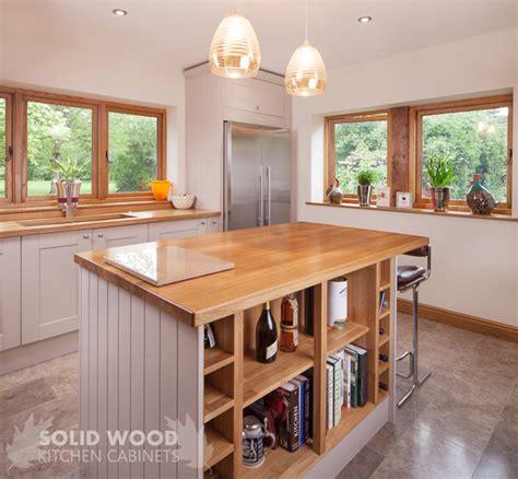 create  kitchen island  solid oak kitchen