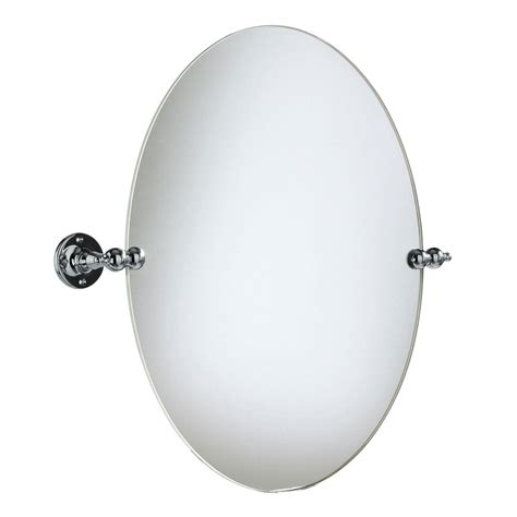 heritage oval swivel mirror chrome available at