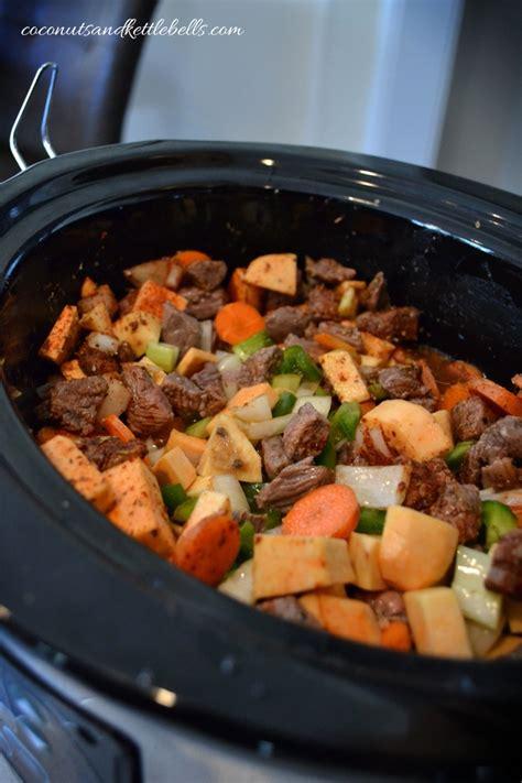 slow cooker beef  sweet potato stew coconuts