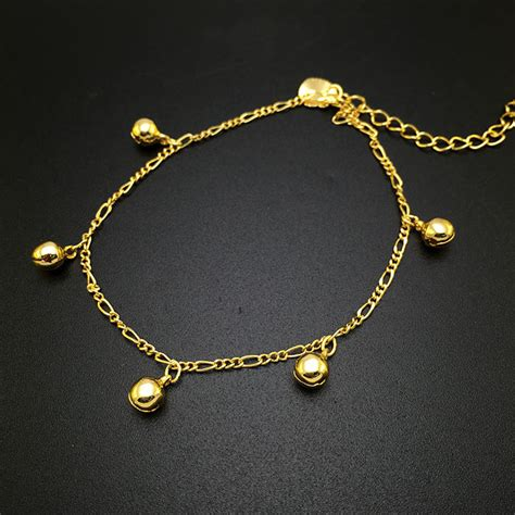 pretty gold plated anklets designs  men  women