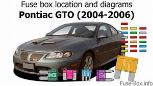Fuse Box Location And Diagrams  Pontiac Gto  2004-2006
