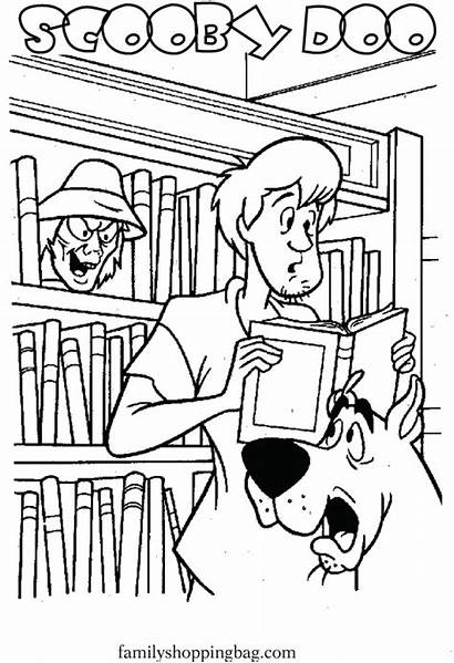 Library Coloring Scooby Pages Doo Printable Sheets