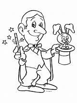 Magician Coloring Goochelaar Toveren Het Kleurplaat Kleurplaten Designlooter Anton Kan 58kb 800px Sylvester Konijn sketch template