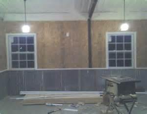 Corrugated Metal Interior Garage Walls