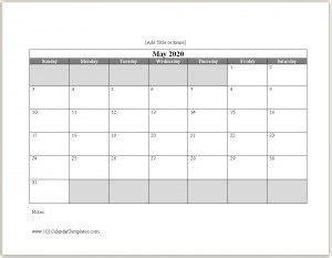 calendar template word