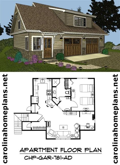 live in garage plans pictures